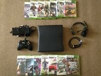 250 GB Xbox 360 Console with 14 Games, Wired Controller, HDMI Cable and Headset.