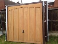 New wooden Horman Tudor garage doors