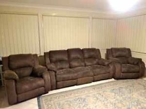 3 Seater Recliner + 2 Recliner Chairs Beaumont Hills The Hills District Preview