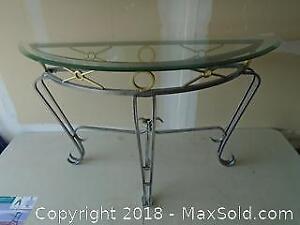 Hall / Sofa Glass Table with Metal Frame
