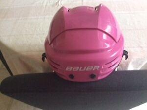 Girls hockey helmet
