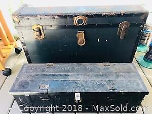 Metal Clad Trunk and Steel Ammunition Box