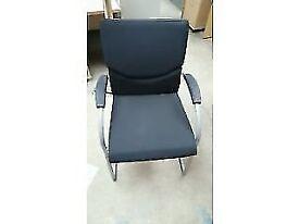 Black Meeting/ Reception Room Chair