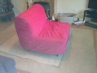 Single foldaway Ikea Lycksele bed