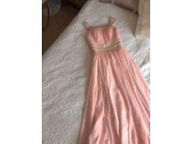 Peach Prom / Evening / Cruise dress size 10