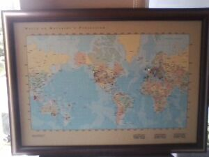 World on Mercator's Projection (America Centered) tackamap™