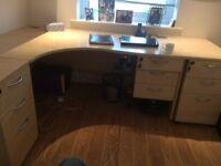 Corner Desk with Storage Drawers