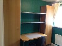 IKEA JOURNALIST STORAGE AND SHELVING UNIT AND DESK