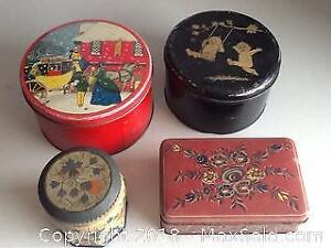 Vintage Lot Of Tins
