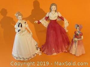 Three AUTHENTIC Royal Doulton figurines.