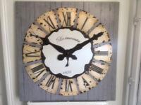 Large Wooden Clock Wall Art
