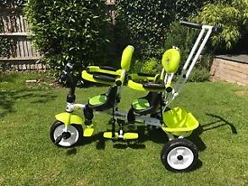 Children's Twin Push Bike / Trike, CanChn (make) Barley used! GREAT condition!!! Sunshade attached!