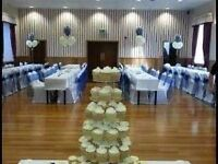 White chair covers and sashes