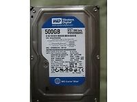 WD Western Digital 500GB HDD for desktop PC, SATA