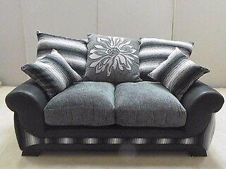 Black 2 Seater Sofa NEW