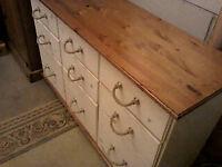pine sideboard/9 draws