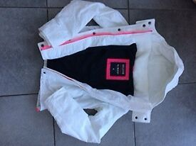 Ladies white Hollister quilted jacket. Size Medium.
