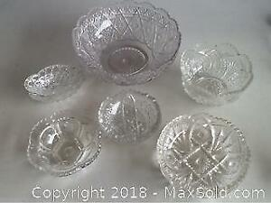 Lot Antique Pressed Glass Bowls