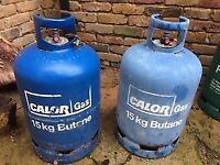 2 x 15kg Calor Butane Gas Bottles