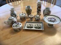 Portmeirion Botanic Garden collectable items in good condition