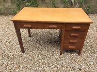 Neat mid-20th century wooden (oak) desk