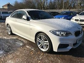 BMW 2 SERIES 1.5 218I M SPORT 2dr (135) * Red Leather * (white) 2015