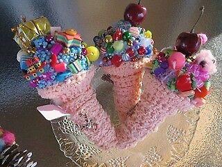 uniquely crafted ice-cream cones