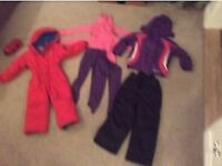 Children's ski cloths - 4 year old - ski suit + sallopettes + jacket + thermals