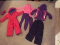 Children's ski cloths - 4 year old - ski suit + sallopettes + jacket + thermals