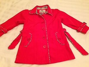 BURBERRY SPRING JACKET - GOOD CONDITION  YEAR : 4-5