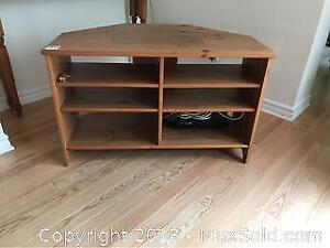 IKEA Pine Media Stand And Shelf B
