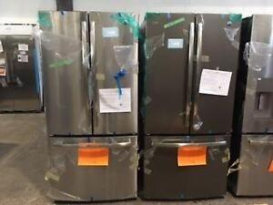 2 choix de Réfrigérateurs 33'', Stainless/Ardoise, Portes françaises