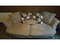 silve/grey sofa very good condition