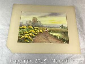 Signed H. Childers Original Watercolor
