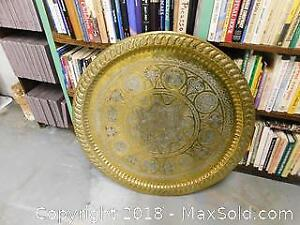 Carved Brass Table Top - C