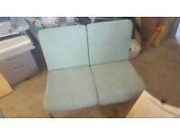 Set of Green padded Reception Seating