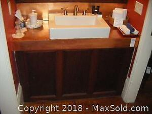 Copper Topped Vanity With Sink C