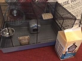 Hamster cage with accessories - £7