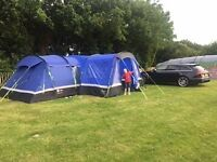 Higear Kalahari 10 man tent, blue. Excellent condition only used 3 times, great tent