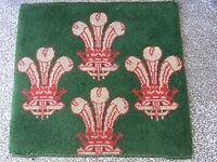 Sample Carpet - Prince of Wales feathers