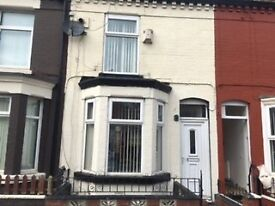nice 2 bed mid terr, L21 8JZ set in quiet location close to amenities, GCH, D/Glazing, fit kitchen