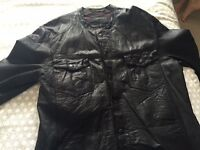 Men's 'All Saints' Black Leather Jacket