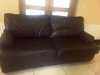 Leather Sofa Bed and Leather Sofa