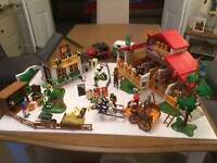 Playmobil Farm, stables and house