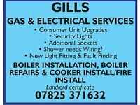 Electrician part p registered and gas safe