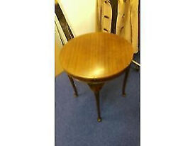 Vintage wooden card table with flip top
