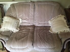 Two piece sofa and chair