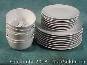 White IKEA plates and Bowls