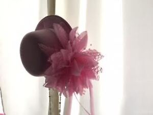 Clip-On Pink Miniature Hats