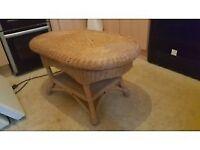 wiker coffee table